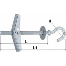 """208-02 Анкер пружинний типу """"Парасолька"""" з півкруглим гаком 4*75 п=50 (400)"""