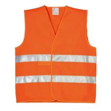 83-0002 Жилет зі світловідбиваючою стрічкою помаранчевий