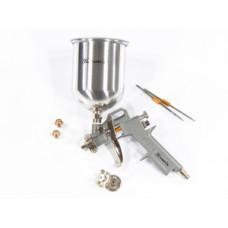 573159 Фарборозпилювач пневматичний з верхнім бачком  V=1,0л + сопла ф1.2, 1.5 та 1.8 мм//MTX
