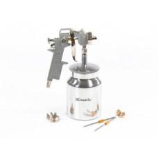 573169 Фарборозпилювач пневматичний з нижнім бачком  V=1,0л + сопла ф1.2, 1.5 та 1.8 мм//MTX