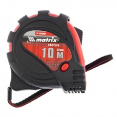 310009 Рулетка Status magnet 3 fixations, 10м х 32мм, прогумований корпус,зачіп з магнітом//МТХ