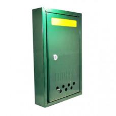 """Ящик поштовий """"Штора"""" (зелений) замок метал."""