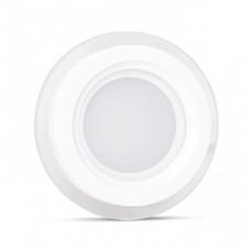 AL2110 Світильник світлодіодний 6W 480Lm 5000K круглий вбудований 100*40mm OL
